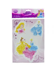 Sticker 3D perete camera copilului, desene animate printese, 27 x 20 cm, Disney