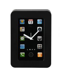 Ceas de perete in forma de telefon mobil, ceas de masa haios, cu ore - aplicatii telefon mobil, negru, Maxx