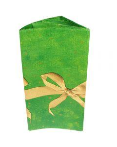Fata de masa cu utilizare limitata, model funda, verde, 120 x180 cm, Maxx