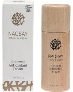 Crema de fata BIO regeneranta antioxidanta cu uleiuri de argan si macese  Naobay  50 ml