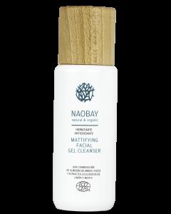 Gel de curatare faciala BIO hidratant si antioxidant matifiant cu Aloe Vera pentru tenul gras  Naobay  200 ml