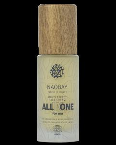 Crema de fata pentru barbati BIO hidratanta si antioxidanta cu acid hialuronic  All In One  Naobay  50 ml