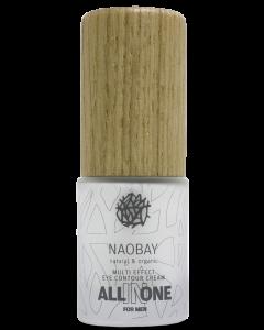 Crema contur de ochi BIO revitalizanta cu acid hialuronic pentru barbati  All In One  Naobay  20 ml