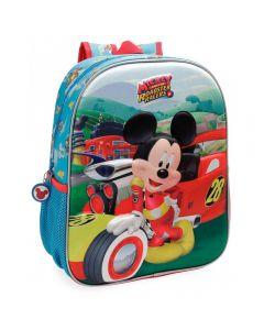 Ghiozdan scoala 3D 33 cm Mickey Roadster Racers