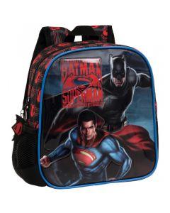 Ghiozdan de gradinita adaptabil 25 cm Superman - Batman