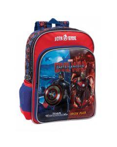 Ghiozdan de scoala adaptabil 40 cm 2 comp. Avengers Civil War