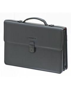 Servieta 41.5 cm 3 comp. tableta 10 inch piele sintetica neagra Davidt's Oran