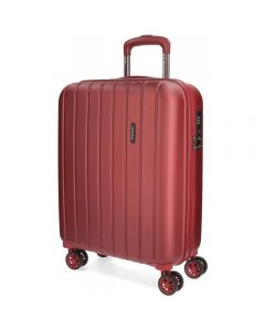 Troler ABS 55 cm 4 roti Movom Wood rosu