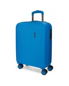 Troler ABS 55 cm 4 roti Movom Wood albastru