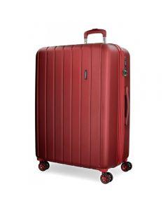 Troler ABS 65 cm 4 roti Movom Wood rosu