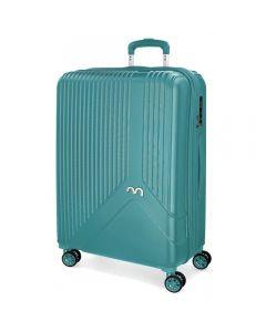 Troler ABS 55 cm 4 roti Movom Trendy albastru