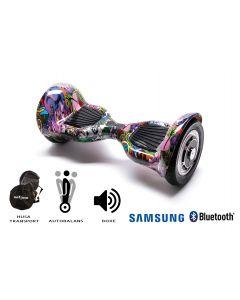 Hoverboard, Smart Balance, Off Road Multicolor, roti 10 inch Bluetooth, baterie Samsung, Boxe incorporate, AutoBalans, Geanta de transport, putere 700W, led-uri, lumini de zi/noapte, autonomie 15 km