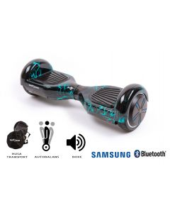 Hoverboard Smart Balance, Regular Thunderstorm, roti 6,5 inch Bluetooth, baterie Samsung, Boxe incorporate, AutoBalans, Geanta de transport, putere 700W, led-uri, lumini de zi/noapte, autonomie 15 km