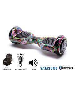 Hoverboard Smart Balance, Regular Multicolor, roti 6,5 inch Bluetooth, baterie Samsung, Boxe incorporate, AutoBalans, Geanta de transport, putere 700W, led-uri, lumini de zi/noapte, autonomie 15 km