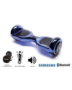 Hoverboard Smart Balance, Regular ElectroBlue, roti 6,5 inch Bluetooth, baterie Samsung, Boxe incorporate, AutoBalans, geanta de transport, putere 700W, led-uri, lumini de zi/noapte, autonomie 15 km