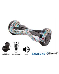 Hoverboard, Smart Balance, Transformers Clown, roti 8 inch Bluetooth, baterie Samsung, Boxe incorporate, AutoBalans, Geanta de transport, putere 700W, led-uri, lumini de zi/noapte, autonomie 15 km