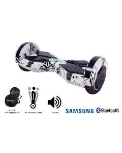 Hoverboard, Smart Balance, Transformers News Paper, roti 8 inch Bluetooth, baterie Samsung, Boxe incorporate, AutoBalans, Geanta de transport, putere 700W, led-uri, lumini de zi/noapte, autonomie 15 km