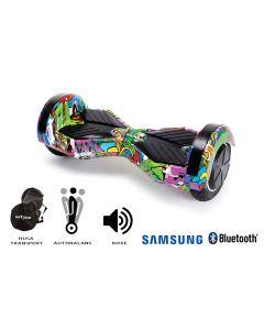 Hoverboard, Smart Balance, Transformers Multicolor, roti 8 inch Bluetooth, baterie Samsung, Boxe incorporate, AutoBalans, Geanta de transport, putere 700W, led-uri, lumini de zi/noapte, autonomie 15 km