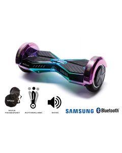Hoverboard, Smart Balance, Transformers Dakota, roti 8 inch Bluetooth, baterie Samsung, Boxe incorporate, AutoBalans, Geanta de transport, putere 700W, led-uri, lumini de zi/noapte, autonomie 15 km