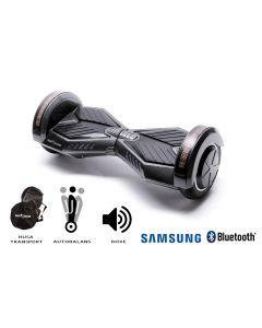 Hoverboard, Smart Balance, Transformers Carbon, roti 8 inch Bluetooth, baterie Samsung, Boxe incorporate, AutoBalans, Geanta de transport, putere 700W, led-uri, lumini de zi/noapte, autonomie 15 km