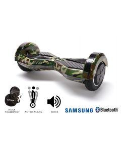 Hoverboard, Smart Balance, Transformers Camouflage, roti 8 inch Bluetooth, baterie Samsung, Boxe incorporate, AutoBalans, Geanta de transport, putere 700W, led-uri, lumini de zi/noapte, autonomie 15 km
