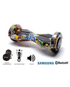 Hoverboard, Smart Balance, Transformers Hip Hop, roti 8 inch Bluetooth, baterie Samsung, Boxe incorporate, AutoBalans, Geanta de transport, putere 700W, led-uri, lumini de zi/noapte, autonomie 15 km