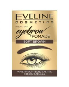 Crema pentru sprancene, Eveline Cosmetics, Soft Brown, Waterproof