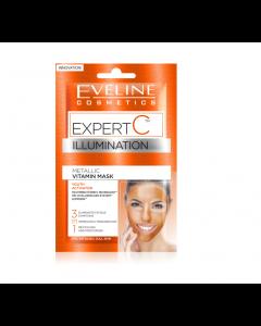 Masca de fata iluminatoare, Eveline Cosmetics, Expert C,  10 ml