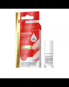 Tratament pentru unghii, Eveline Cosmetics, Nail Therapy Keratin Pro, 5 ml