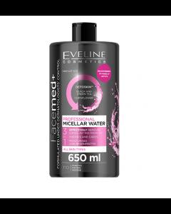Apa Micelara Profesionala, Eveline Cosmetics, 3in1, Pentru Toate Tipurile De Ten, 650 ml