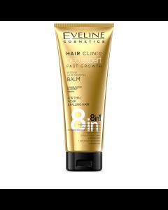 Balsam de par, Eveline Cosmetics, 8 in 1 Hair Clinic Oleo Expert pentru cresterea parului, 250 ml