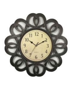 Ceas  vintage pentru perete , maro antichizat ,Grunberg ,KLJ2928