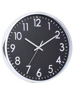 Ceas pentru perete ,Grunberg  ,Argintiu/Negru ,30.5 x 30.5 x 4 cm