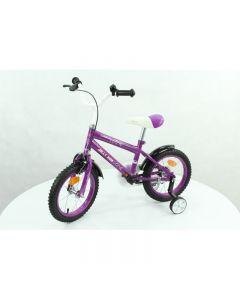 Bicicleta pentru copii cu roti ajutatoare , Jolly Kids, Mov
