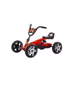 Kart  cu pedale pentru copii ,  Rosu/Galben/Albastru/Roz , Jolly Kids  ,