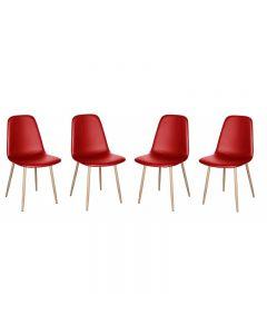 Set 4 scaune bucatarie sau living , Grunberg WC14F/SET4