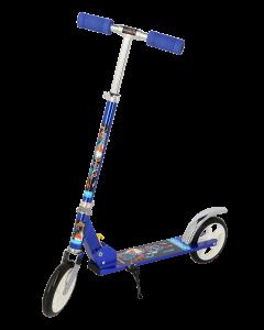 Trotineta Pliabila cu 2 Roti , pentru Copii , roti 18 cm, MM08 - Albastru/ROSU/ALB