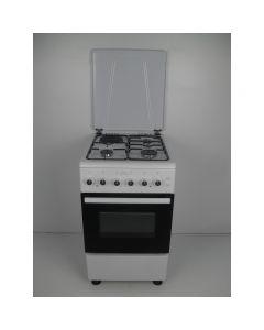 Aragaz Nuova Cucina, FE 50/60 cm, Cuptor gaz, 3 arzatoare gaz+1 electric, Grill electric, Timer, Alb