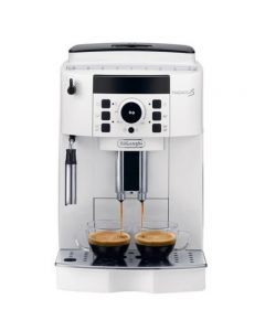 Espressor Automat De'Longhi, ECAM 21.117 Wh, 1450W, 15 bar, Rasnita cafea integrata, Alb
