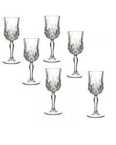 Set 6 pahare cu picior, vin, Opera RCR Crystaleria