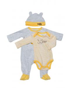 Pijama 3 piese bebe  Winnie 3/36 luni