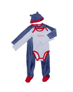 Pijama 3 piese bebe  Mickey 3/36 luni