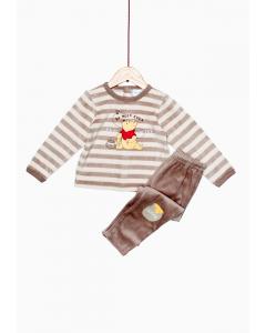 Pijama catifea bebe Winnie 6/36 luni