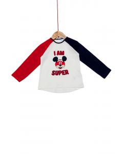 Tricou mânecă lungă bebe 3/36 luni Mickey