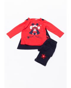 Set 3 piese bebe Mickey 6/36 luni