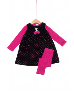 Set rochie +colanți+bluză  6/36 luni Minnie