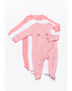 Set 3 pijamale nou născut 0/6 luni