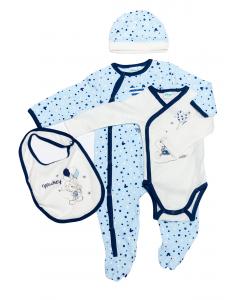 Salopetă +body+accesorii nou născut 0/9 luni Mickey