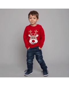 Pulover Crăciun bebe 3/36 luni