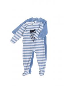 Set x2 salopete noapte bebe 3/23 luni